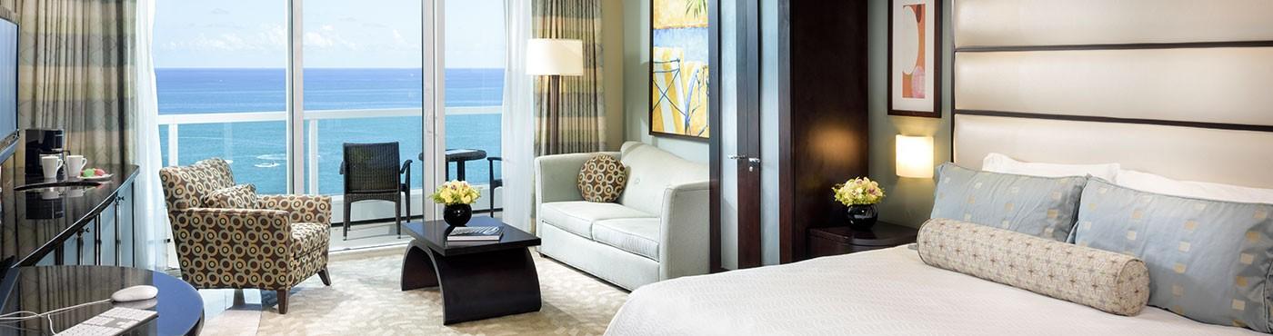 Suite de lujo con sala de estar en Miami Beach