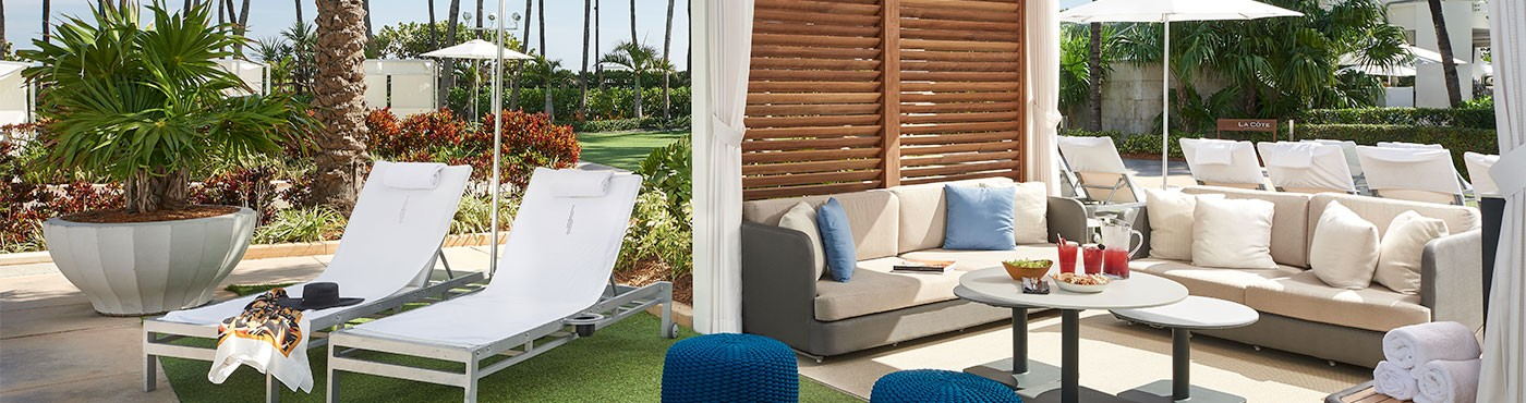 Large Cabana with Two Lounge Chairs