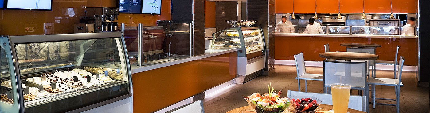 Restaurante com comida para levar em Miami Beach com sorvete