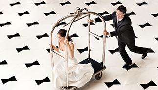 Fotos de reuniões e casamentos privilegiados